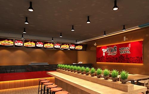 重庆中央广场义门白家餐饮店铺装修设计