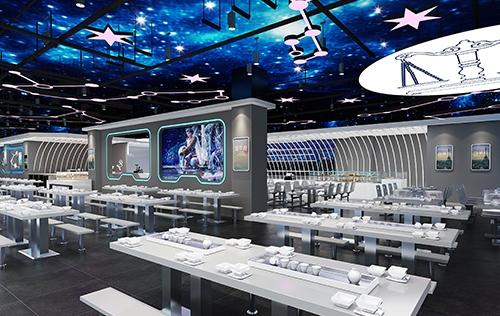 西南大学食堂大厅装修设计