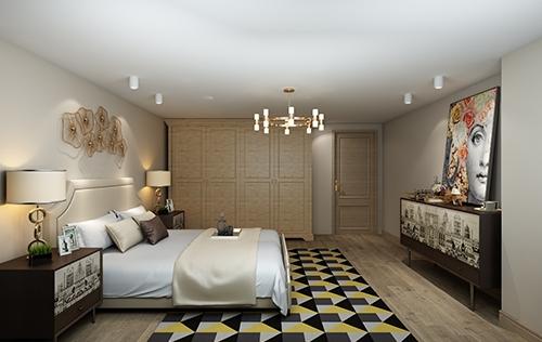 地产宁波样板间通用卧室设计