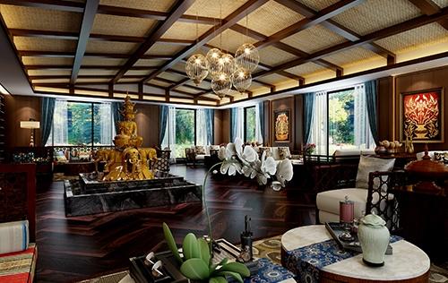 沁悦花园酒店雪茄吧设计