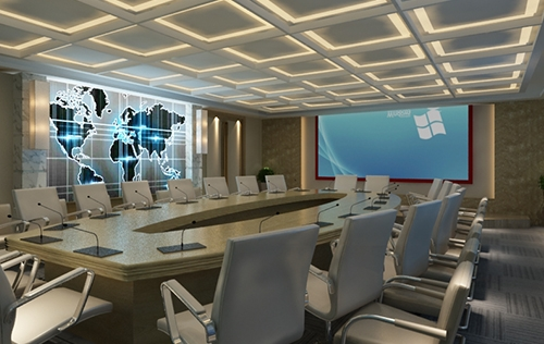 定位设计大童保险会议室